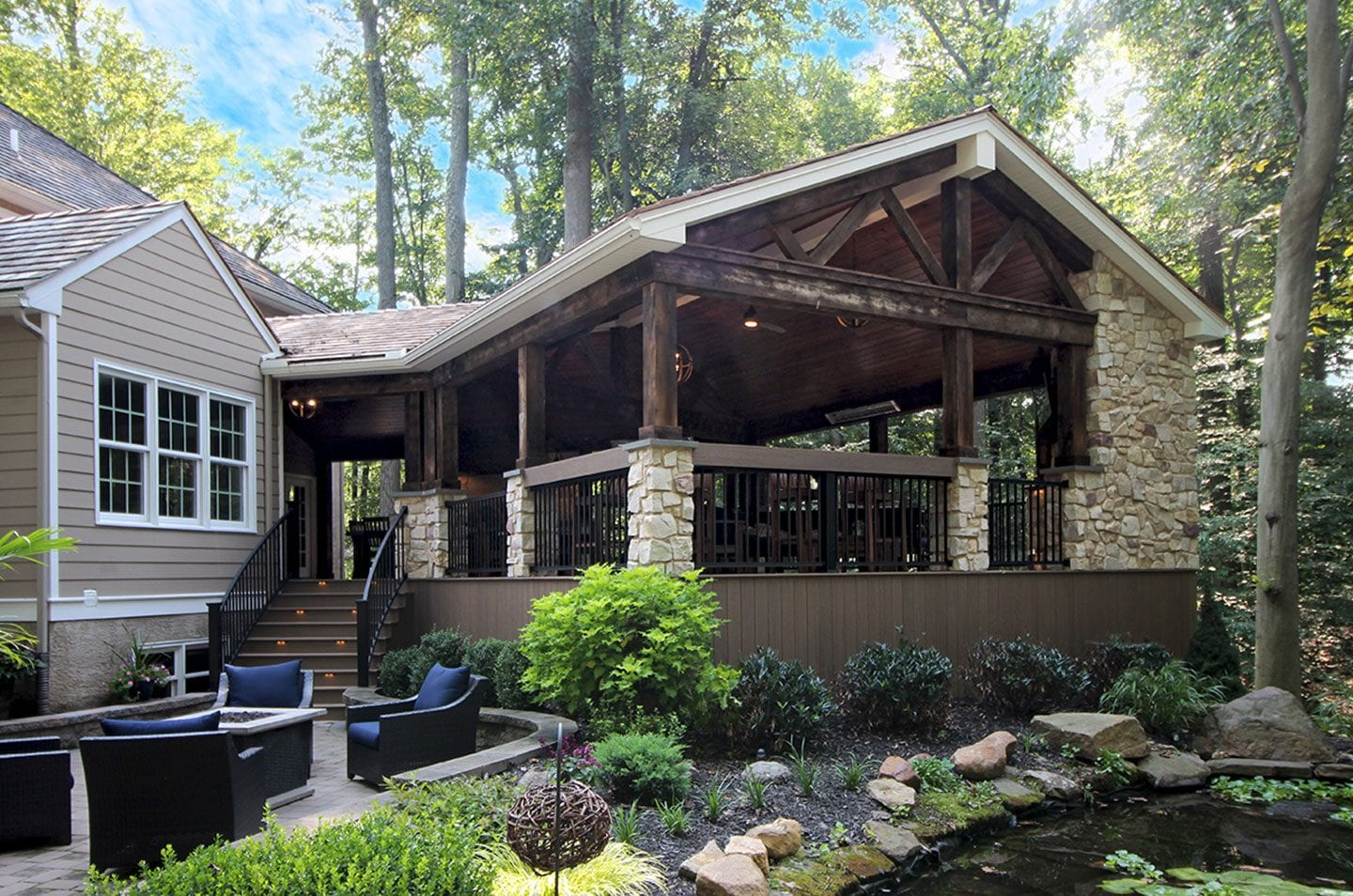 rustic covered porch project