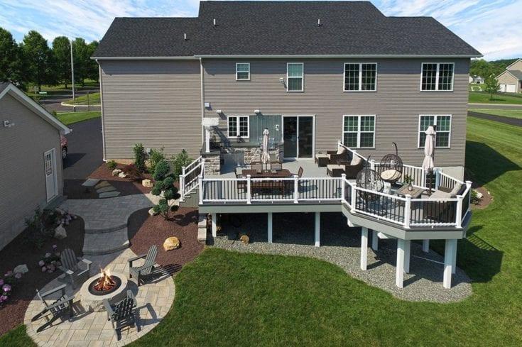 Custom Stone Ash TimberTech Deck / Patio – Schwenksville, PA
