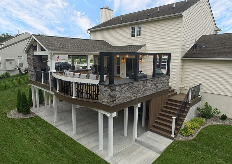modern deck trend with industrial features