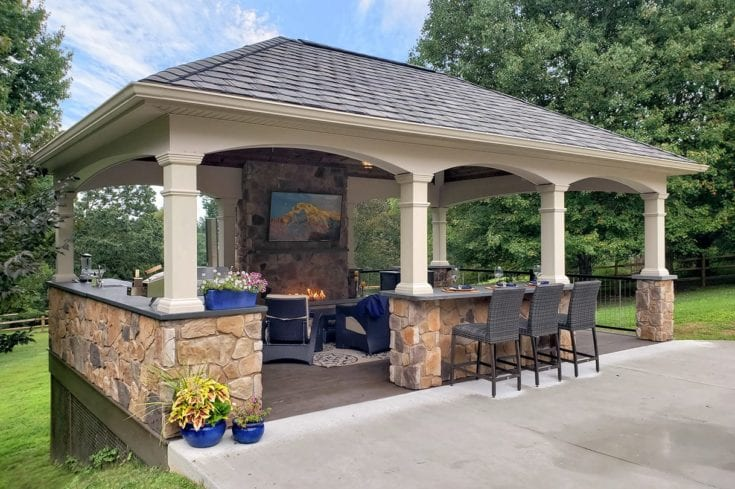 Custom Heritage Pavilion / Mocha TimberTech Deck – West Chester, PA