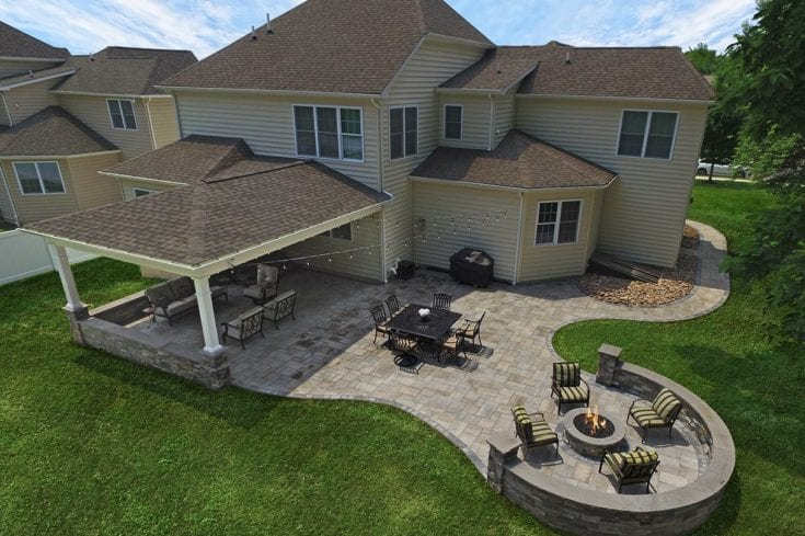 Custom Heritage Porch / Techo-Bloc Patio – Wales, PA