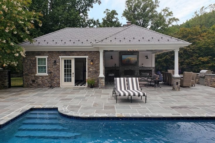 Custom Heritage Pool House / Flagstone Patio – West Chester, PA