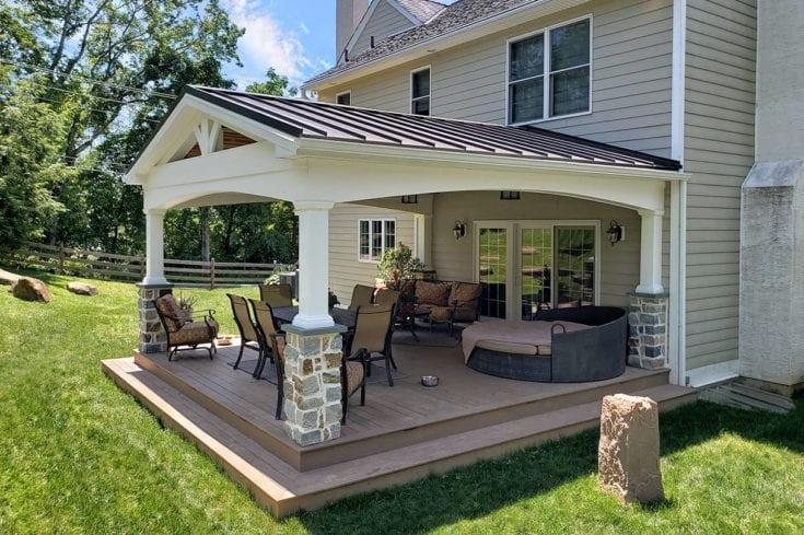 Custom Pecan TimberTech Deck / Vintage Porch – Berwyn, PA