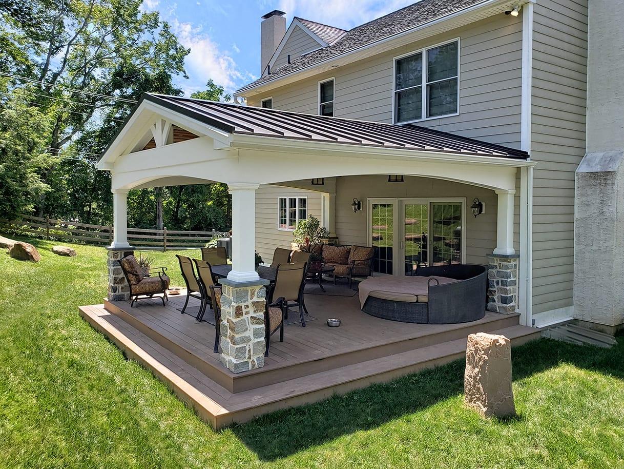 Custom Pecan TimberTech Deck / Vintage Porch - Berwyn, PA 1