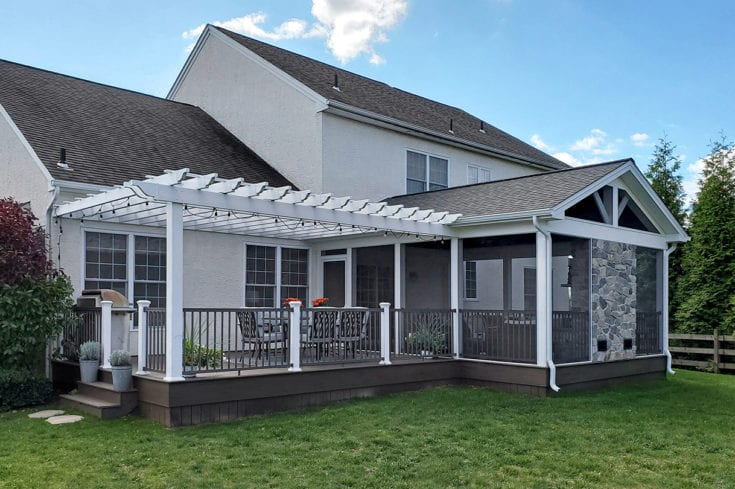 Custom Mocha TimberTech Deck / Screened Porch – West Chester, PA