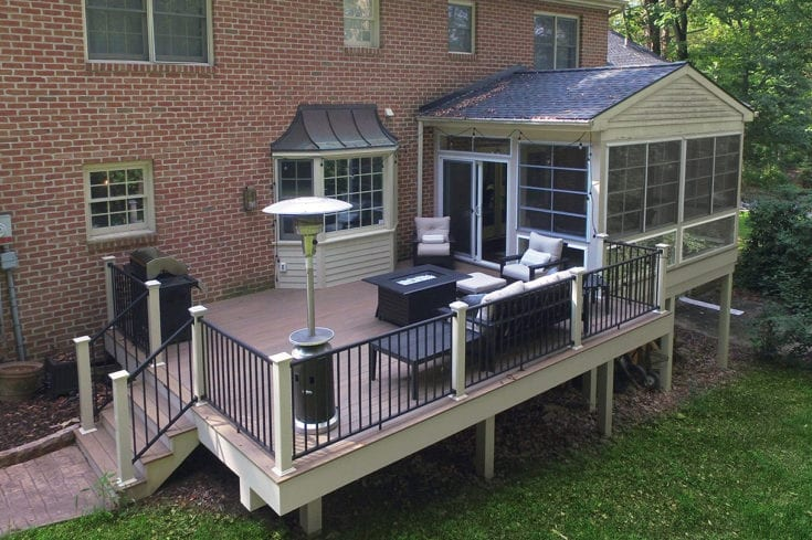 Pecan Timbertech Deck / Sunroom – Lancaster, PA