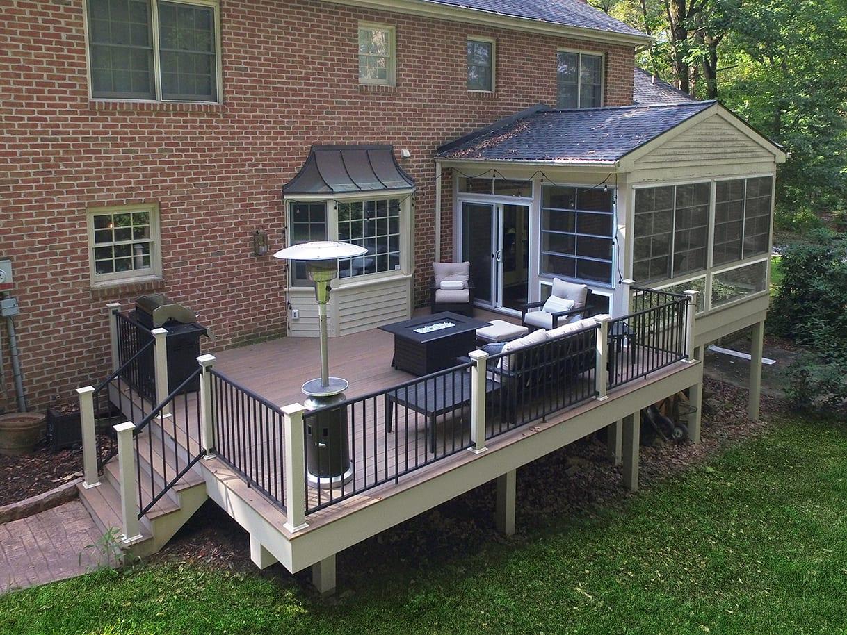 Pecan Timbertech Deck / Sunroom - Lancaster, PA 1