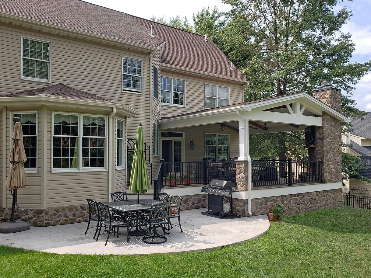 TimberTech Deck / Barnwood Porch / Patio - Lansdale, PA 1