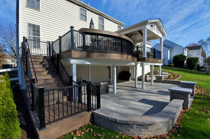 TimberTech Deck / Barnwood Porch / Techo-Bloc Patio – Garnet Valley, PA