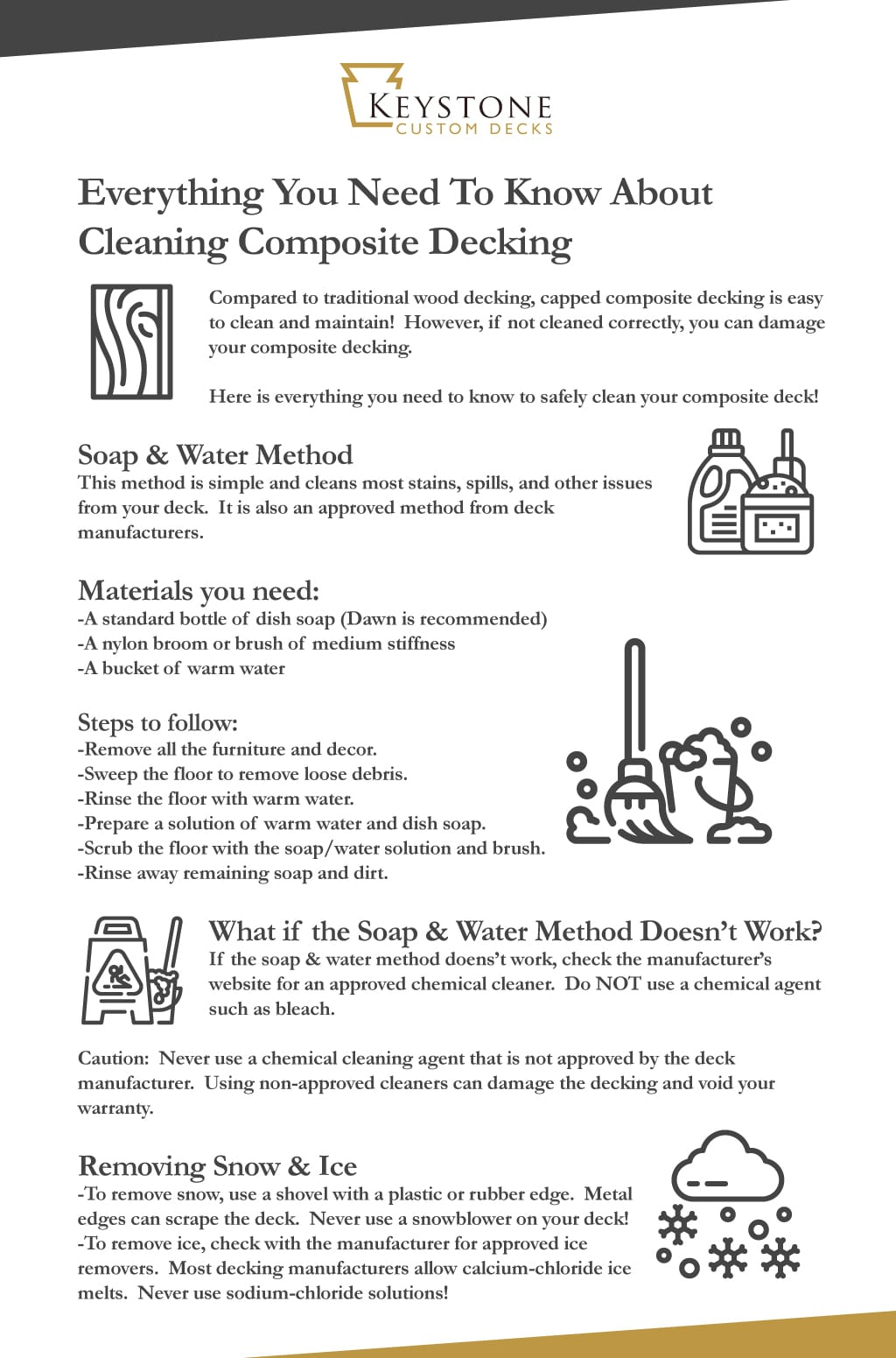 cleaning composite decking infographic