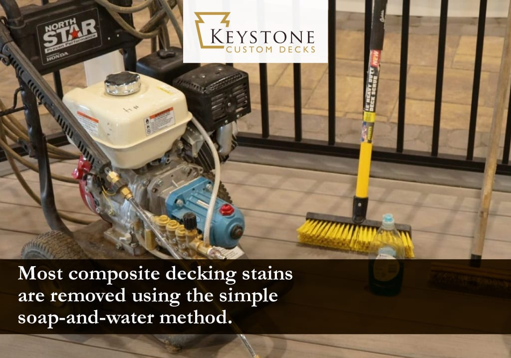 most composite decking stains