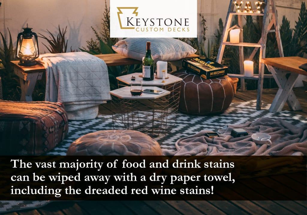 the vast majority of food and drink stains