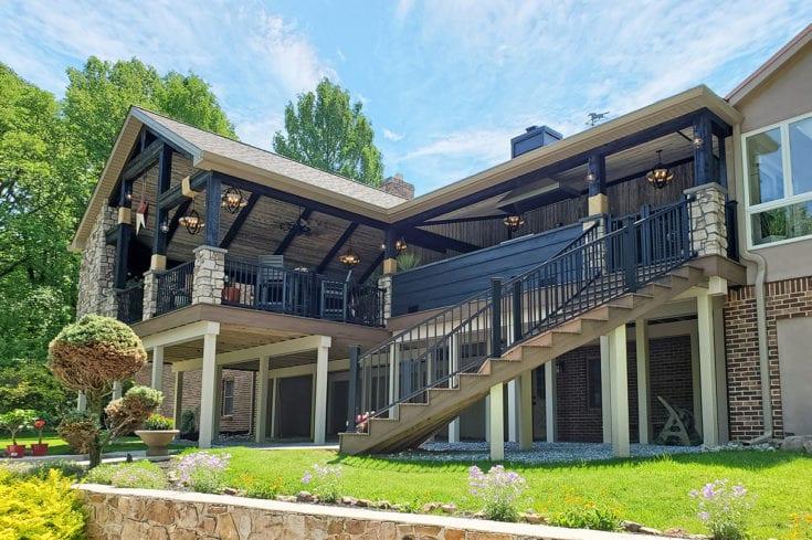 Barnwood Porch / Trex Deck – Exton, PA