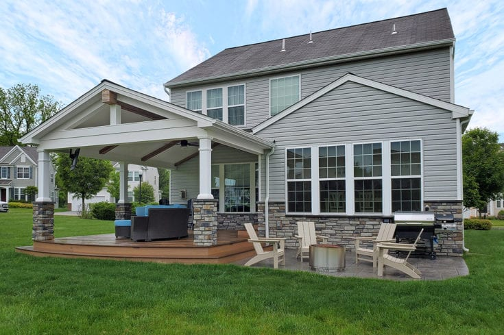 Porch / TimberTech Deck / Stamped Patio – Downingtown, PA