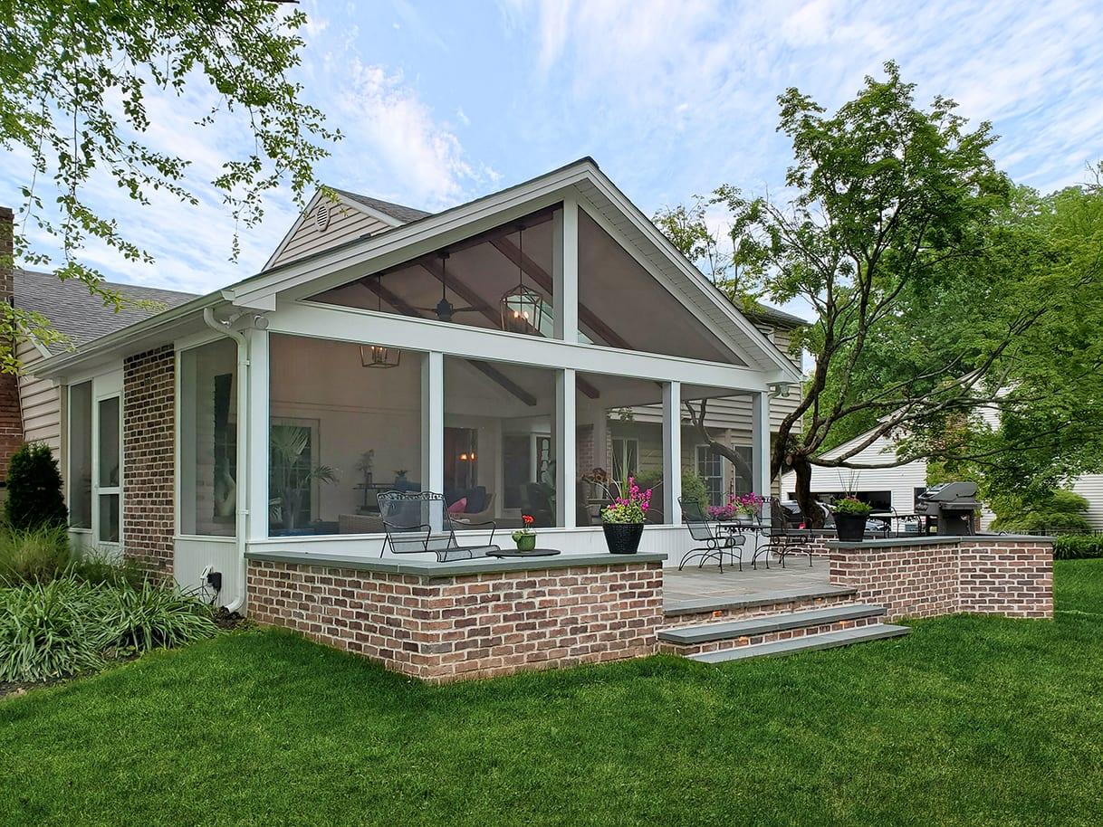 Screened Porch / Flagstone Patio - Broomall, PA 1