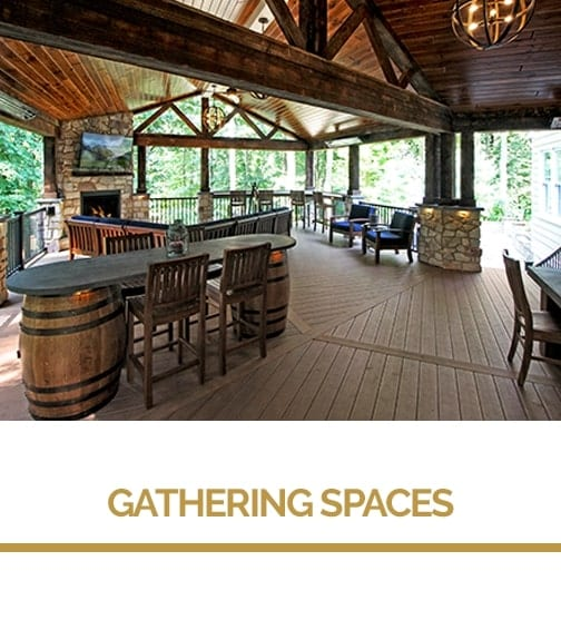 Outdoor gathering space