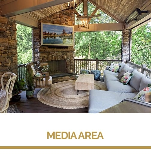 media area for deck