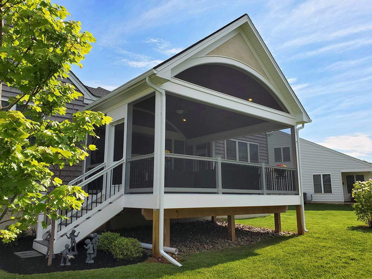 Heritage Barrel Porch / Timbertech Deck - Phoenixville, PA 1