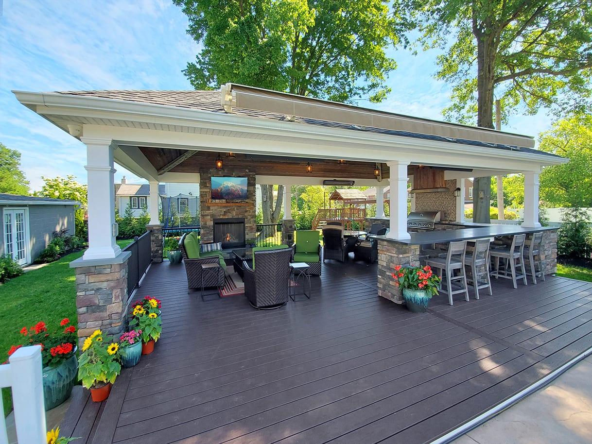 Custom Vintage Pool House / Trex Transcend Deck - Glenside, PA 1