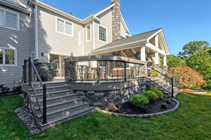 Modern Heritage Porch / TimberTech Ashwood Deck – Phoenixville, PA