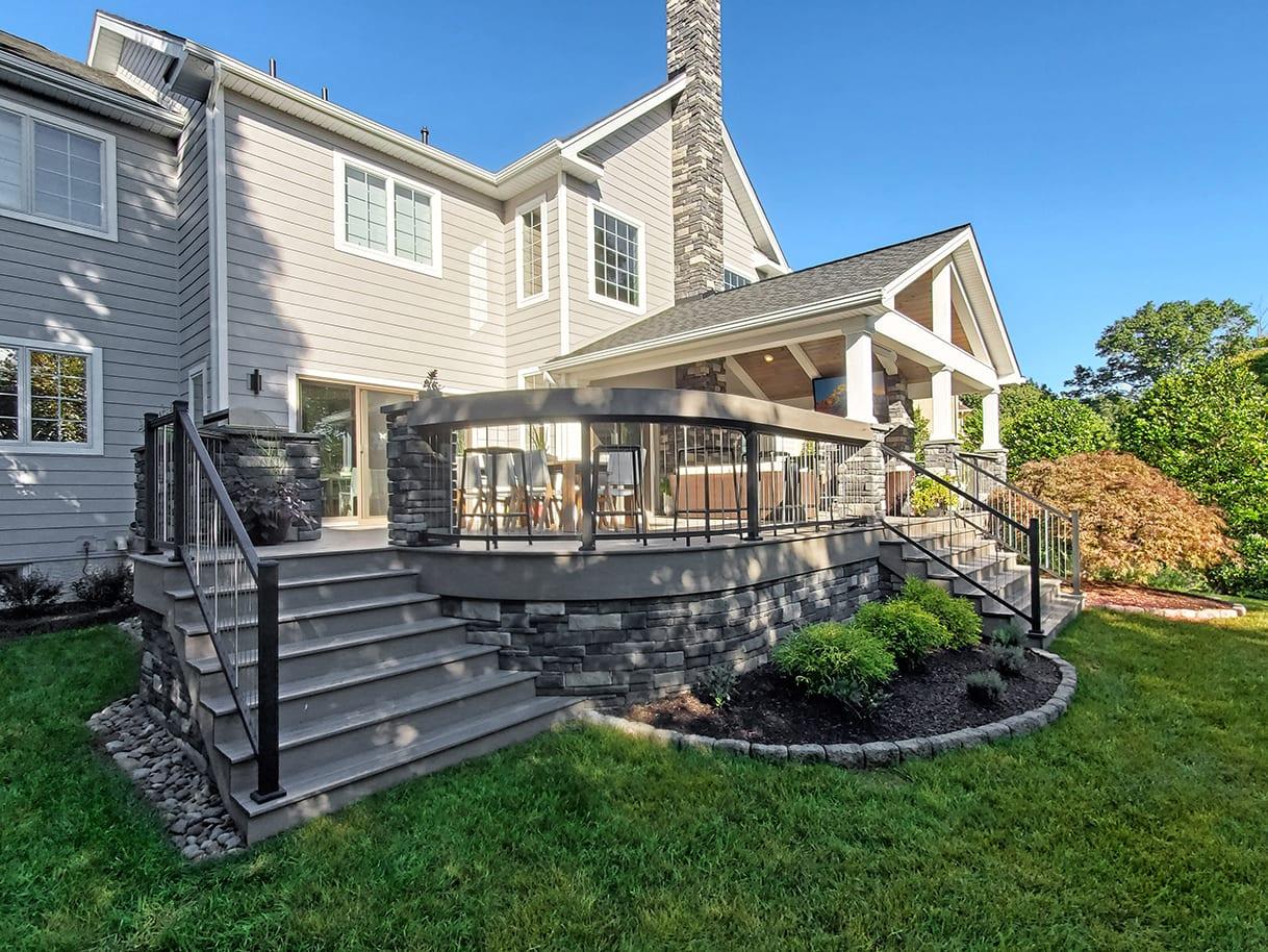 Modern Heritage Porch / TimberTech Ashwood Deck - Phoenixville, PA 1