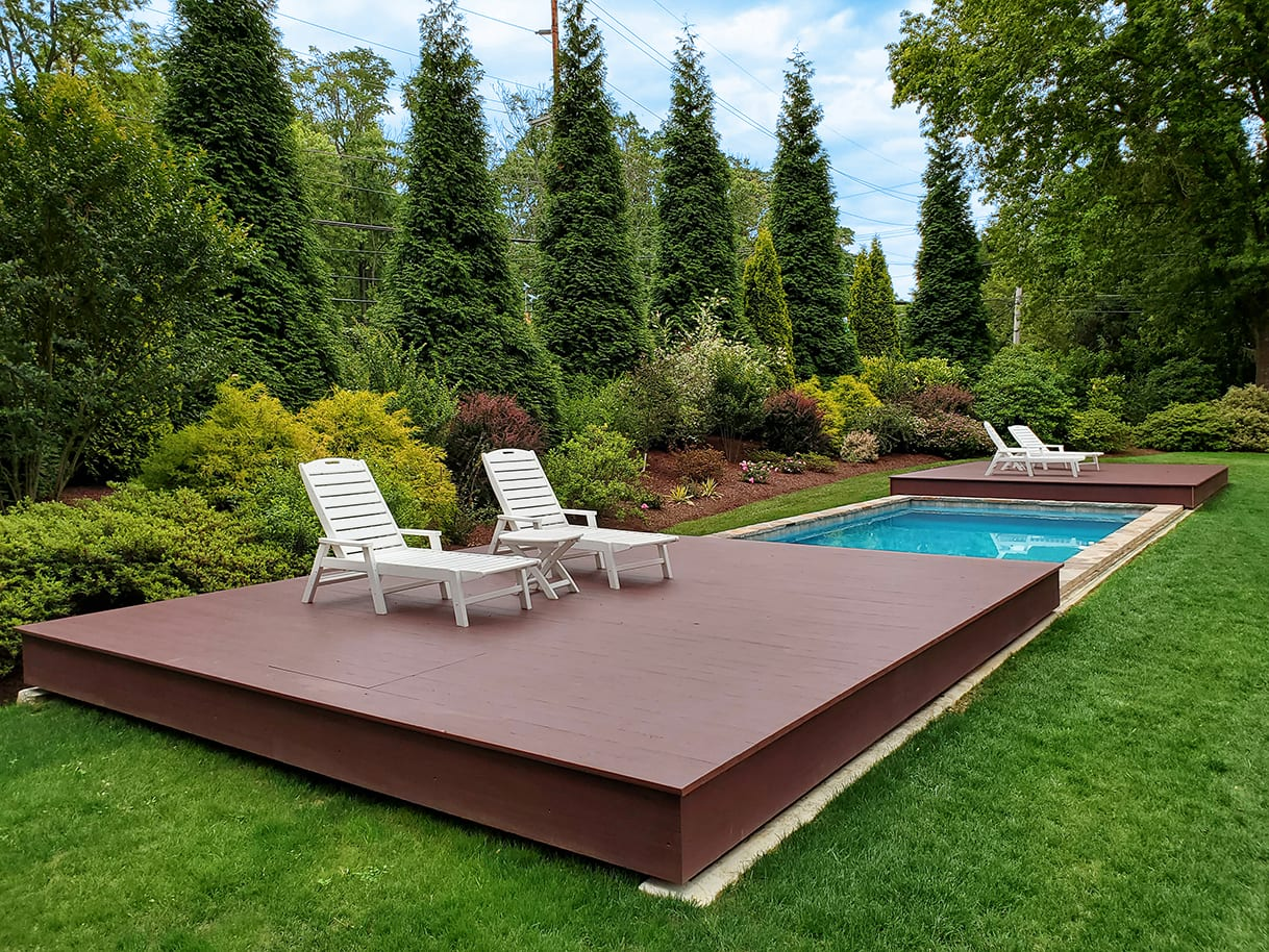 Custom Retractable Azek Pool Deck - Berwyn, PA 1