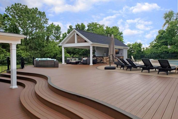 Pool House Kitchen / Massive TimberTech Deck – Phoenixville, PA