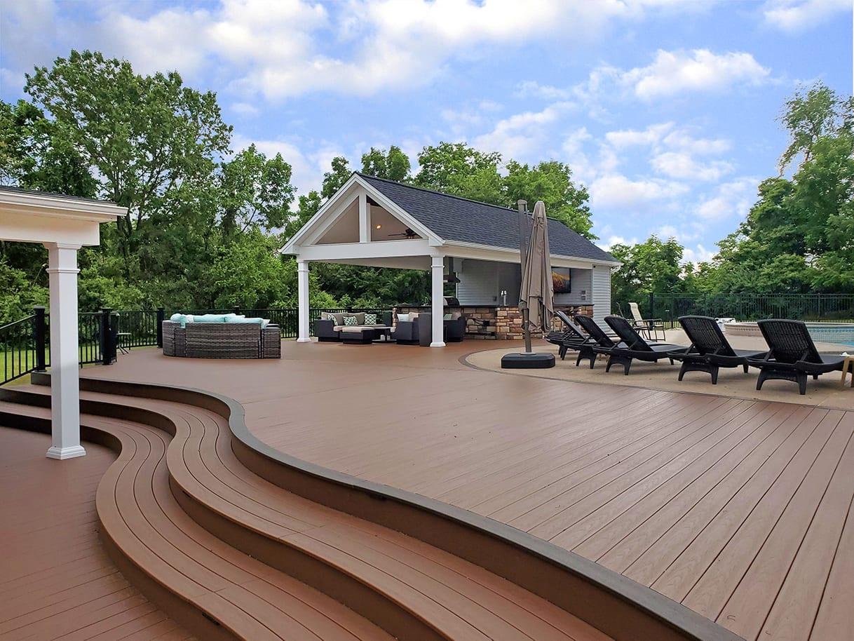 Pool House Kitchen / Massive TimberTech Deck - Phoenixville, PA 1