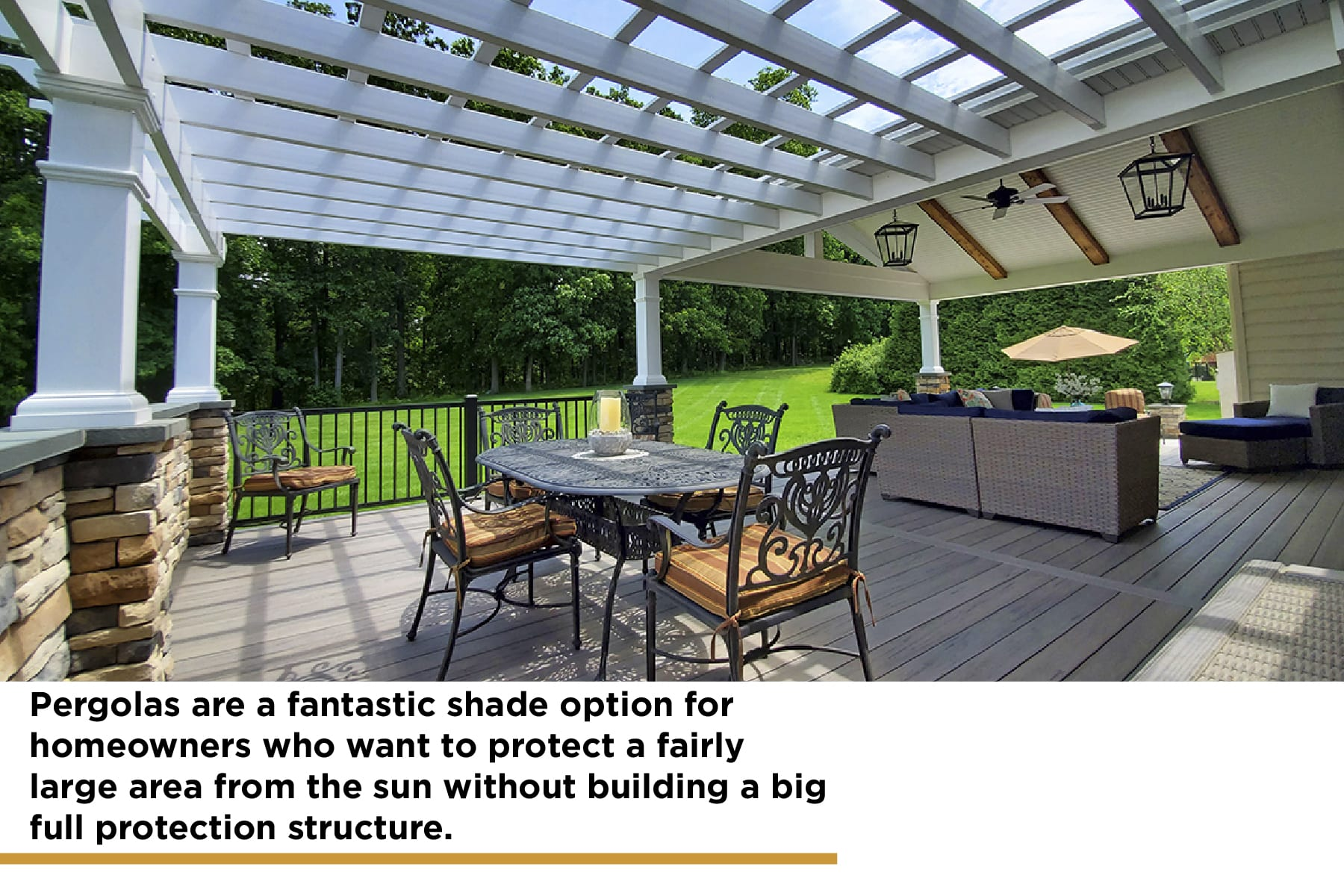pergolas are an excellent shade structure