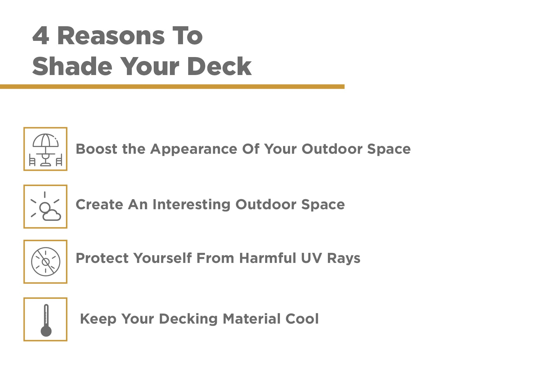 reasons to shade your deck