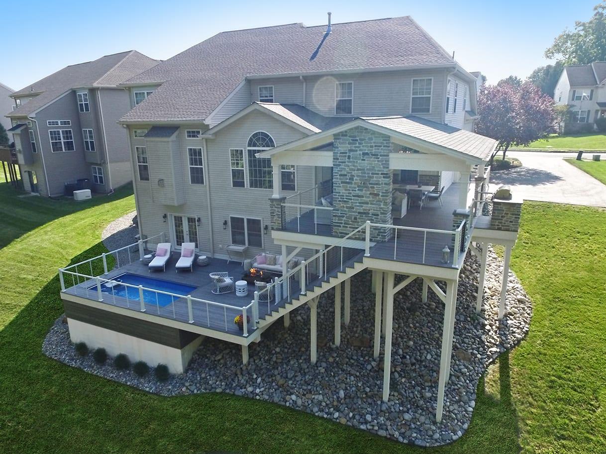 Barnwood Porch / Ashwood TimberTech Deck - Avondale, PA 1