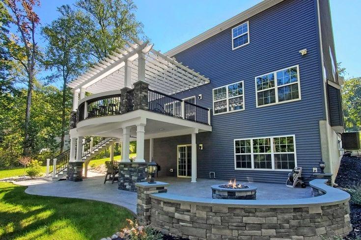 Ashwood TimberTech Deck / Stamped Concrete Patio – Elizabethtown, PA