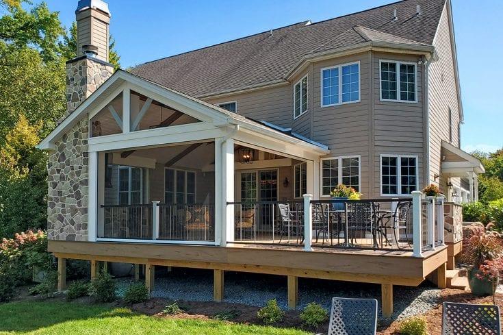 Barnwood Porch / TimberTech Tigerwood Deck – West Chester, PA