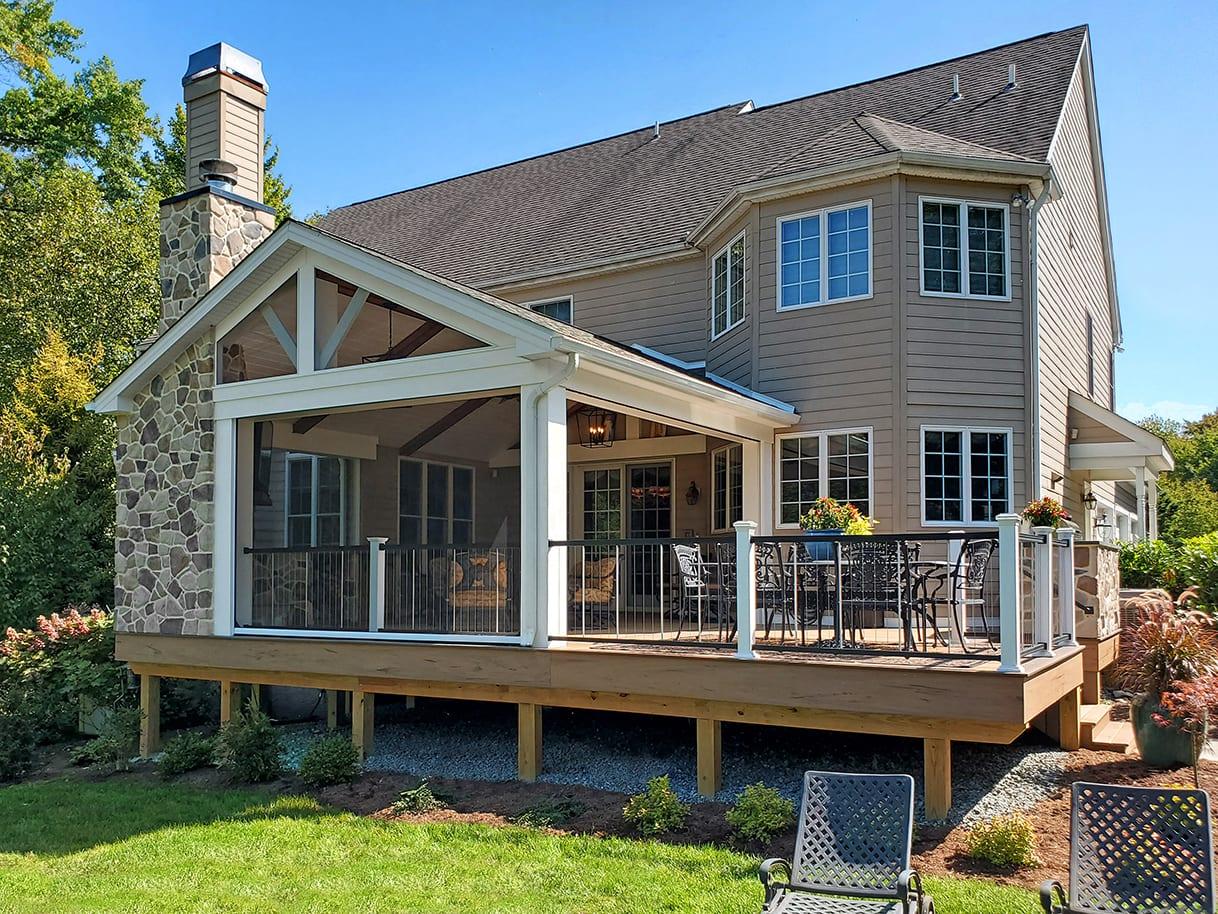 Barnwood Porch / TimberTech Tigerwood Deck - West Chester, PA 1