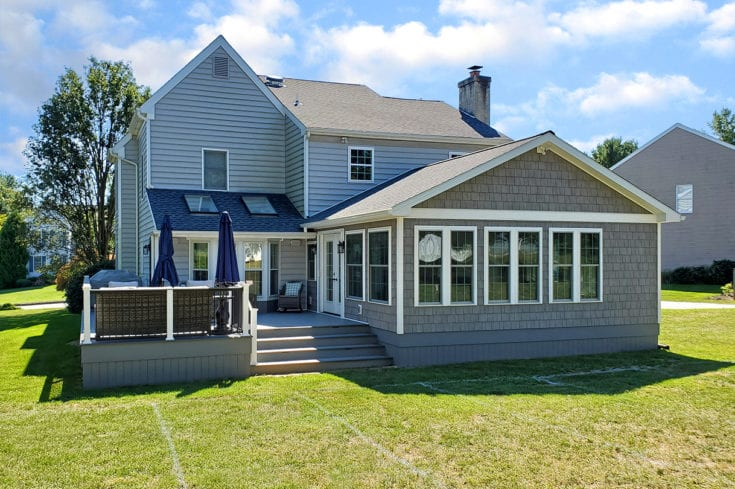Barnwood Sunroom / TimberTech Deck – West Chester, PA