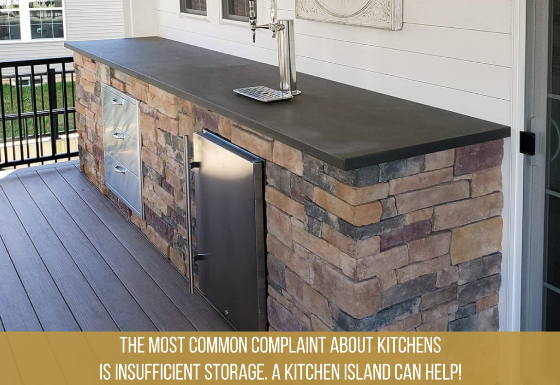 a kitchen island creates enough space for your outdoor kitchen