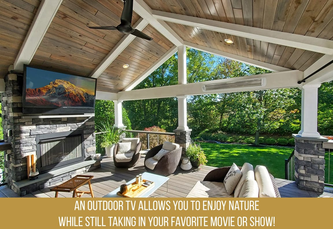 enjoy nature and technology with an outdoor tv