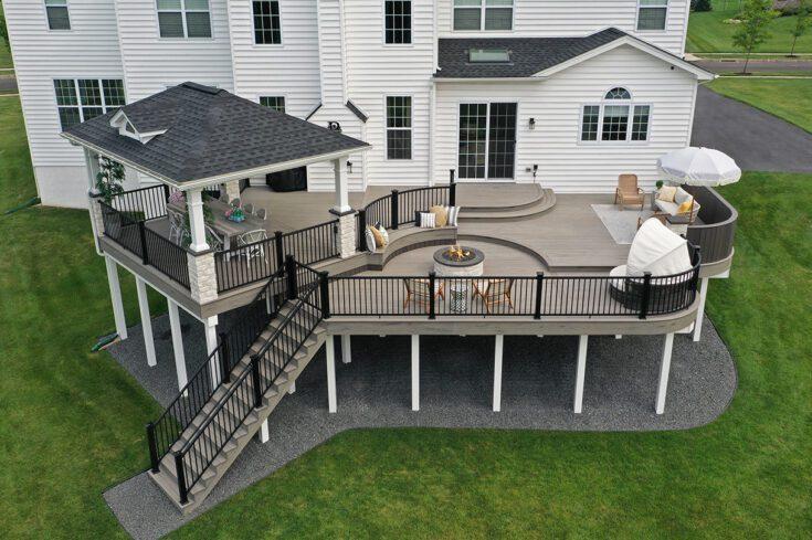 Multi Leveled TimberTech Deck / Pavilion – Furlong, PA