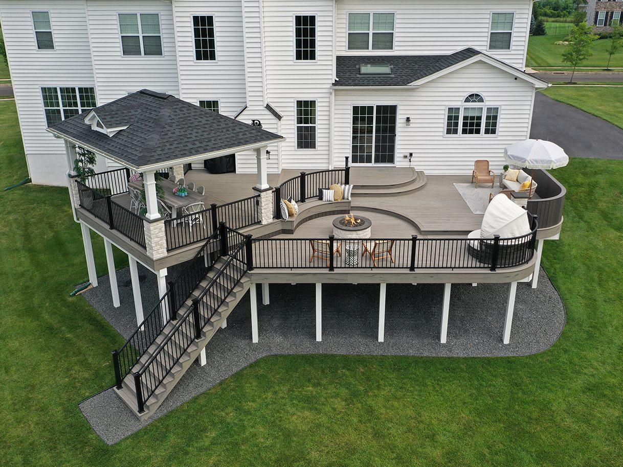 Multi Leveled TimberTech Deck / Pavilion - Furlong, PA 1