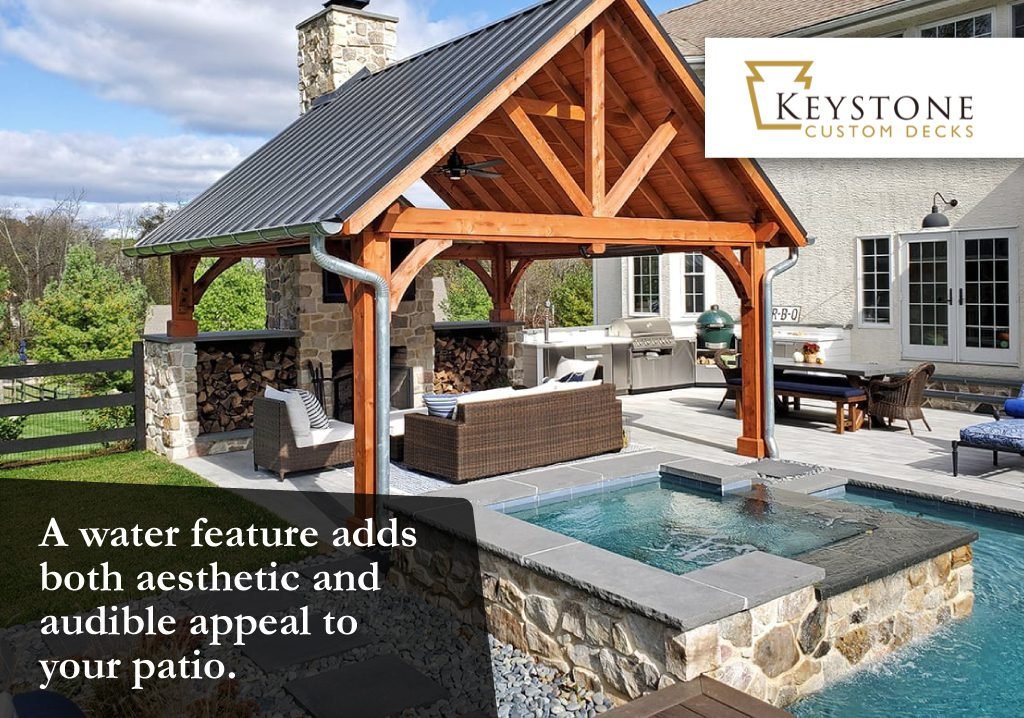adding a water feature to your patio