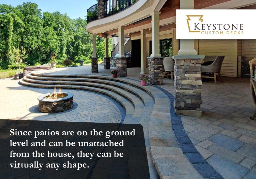 patios can be virtually any shape