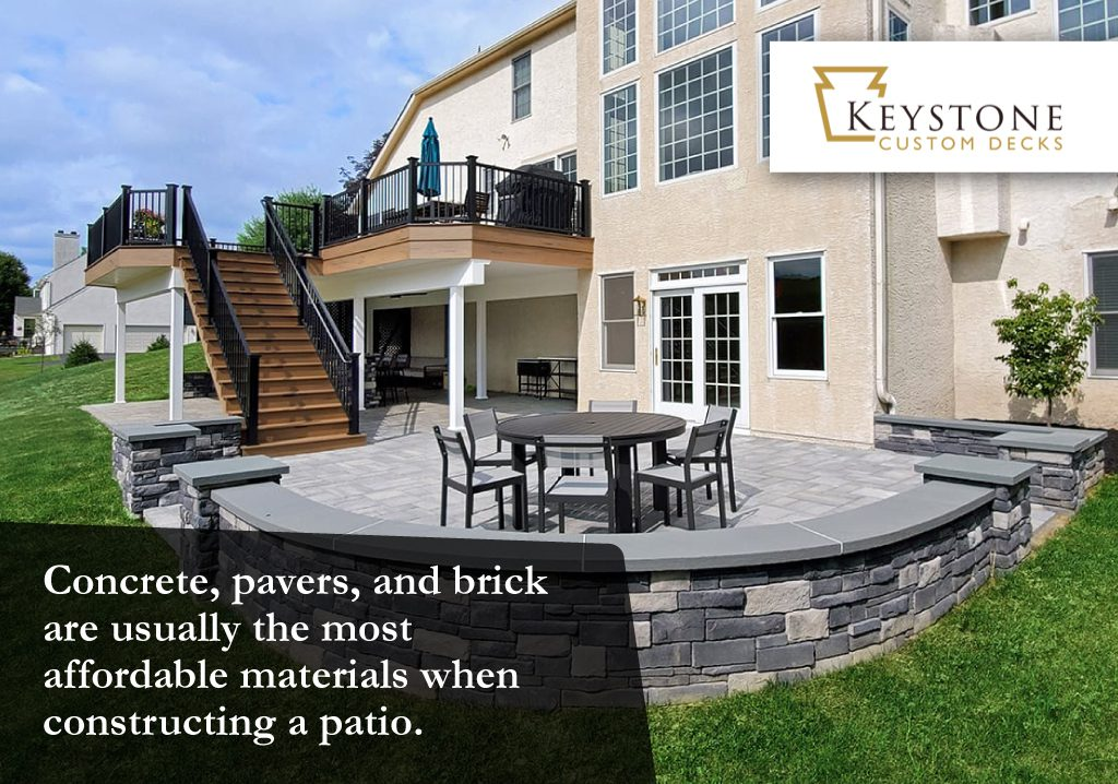 the most affordable materials for constructing a patio