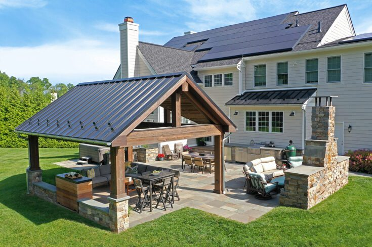Standing Seam Barnwood Pavilion /  Flagstone Patio – Chester Springs, PA