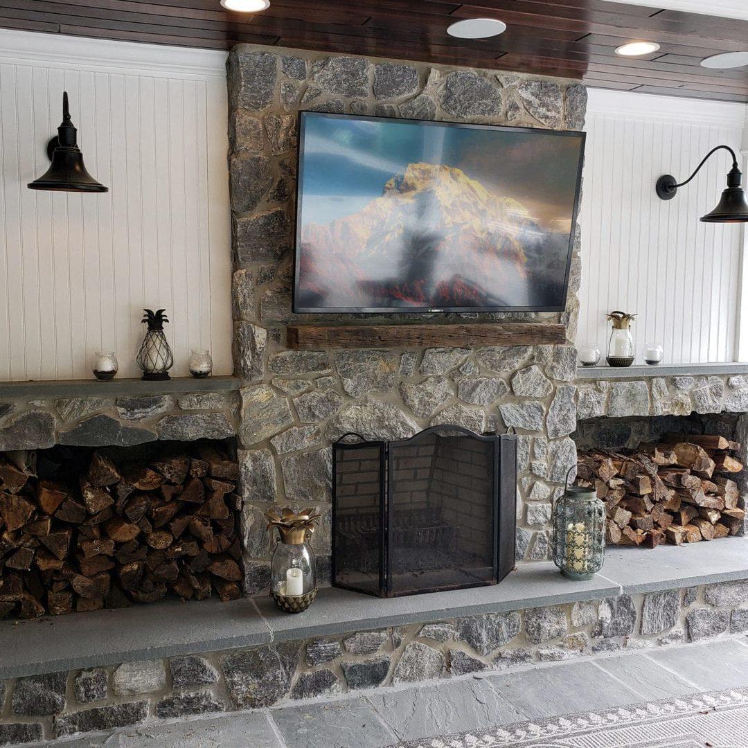 Masonry - Stone Fireplace _ Pits
