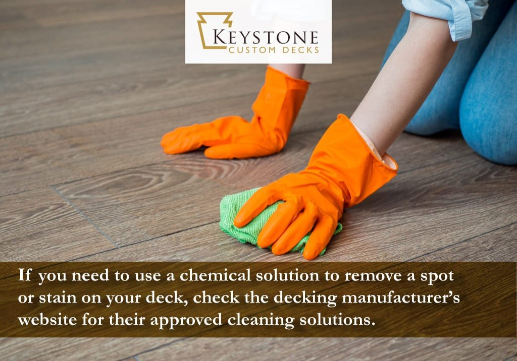 if you need to use a chemical solution